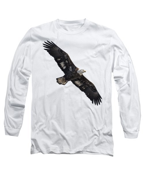 Isolated Juvenile American Bald Eagle 2016-1 Long Sleeve T-Shirt