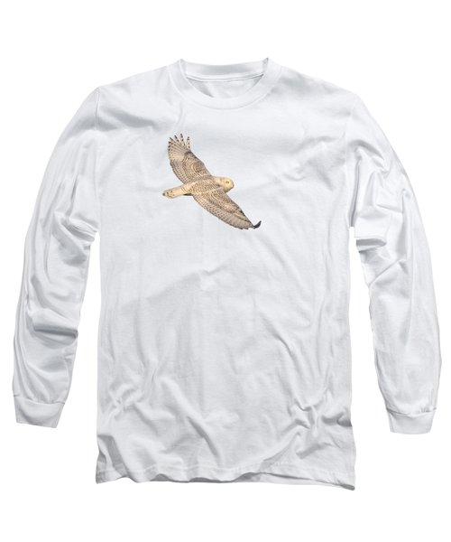 Isolated Snowy Owl 2018-1 Long Sleeve T-Shirt