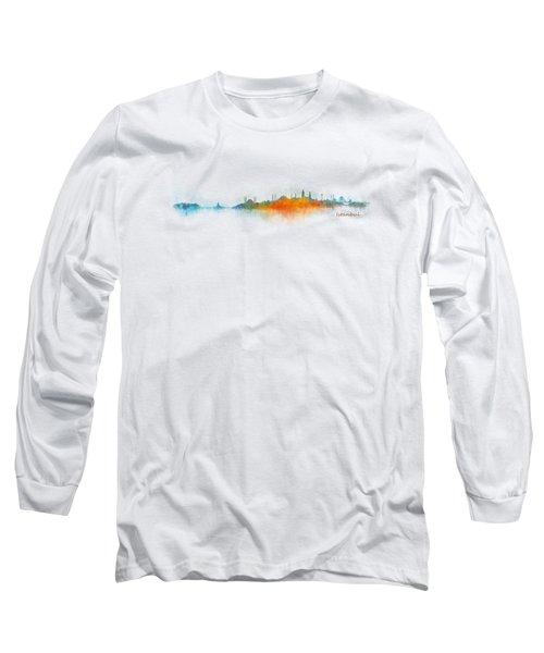 Istanbul City Skyline Hq V03 Long Sleeve T-Shirt