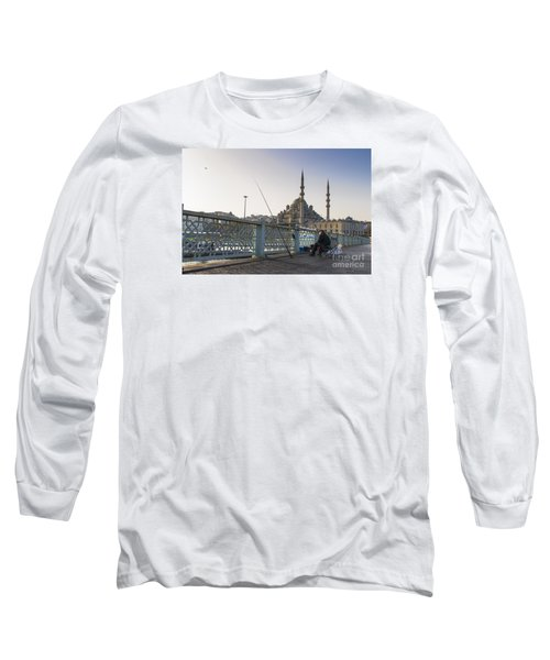 Long Sleeve T-Shirt featuring the photograph Istanbul From The Galata Bridge by Yuri Santin