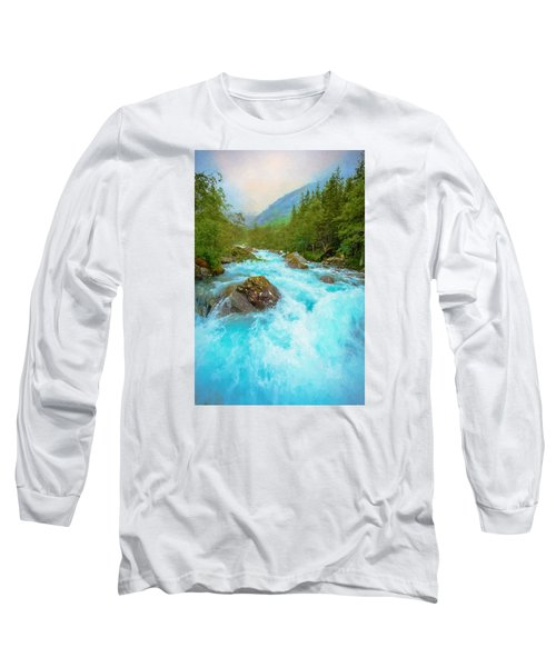 Long Sleeve T-Shirt featuring the photograph Istra River by Rose-Maries Pictures