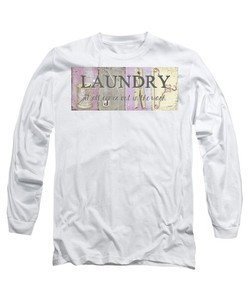 Long Sleeve T-Shirt featuring the painting It All Comes Out In The Wash by Debbie DeWitt