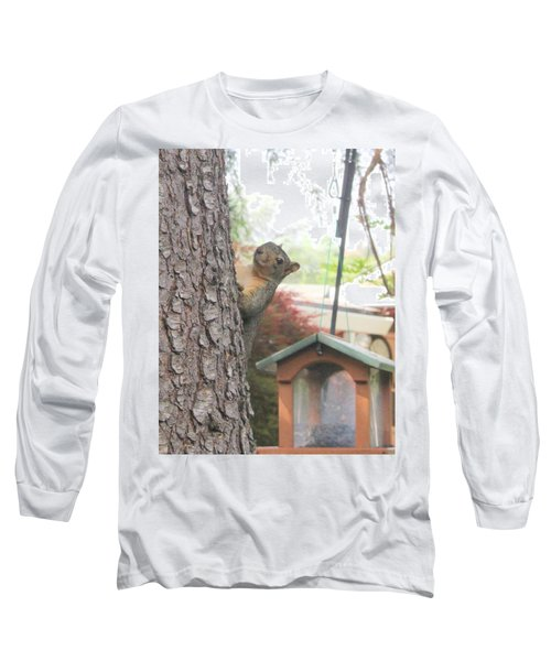 Long Sleeve T-Shirt featuring the photograph It Was Not Me I Tell Yuh by Marie Neder