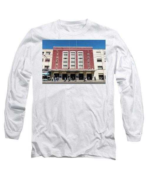 Italian Colonial Art Deco Old Cinema Building In Asmara Eritrea Long Sleeve T-Shirt