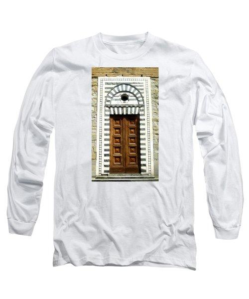 Italy, Door, Florence, Firenze Long Sleeve T-Shirt by Lisa Boyd