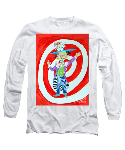 It's A Mad, Mad, Mad, Mad Tea Party -- Humorous Mad Hatter Portrait Long Sleeve T-Shirt