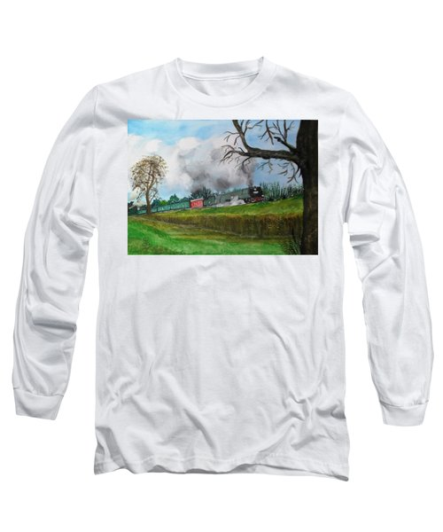 It's All Uphill To Scotland Long Sleeve T-Shirt by Carole Robins