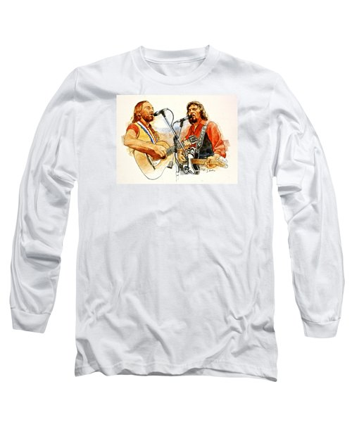 Its Country - 7  Waylon Jennings Willie Nelson Long Sleeve T-Shirt by Cliff Spohn