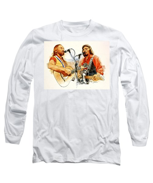 Its Country - 7  Waylon Jennings Willie Nelson Long Sleeve T-Shirt