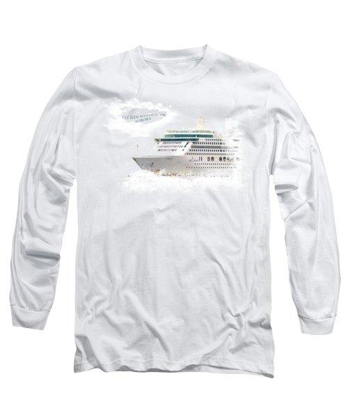 I've Been Nauticle On Aurora On Transparent Background Long Sleeve T-Shirt