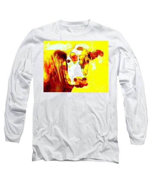 Yellow Cow Long Sleeve T-Shirt