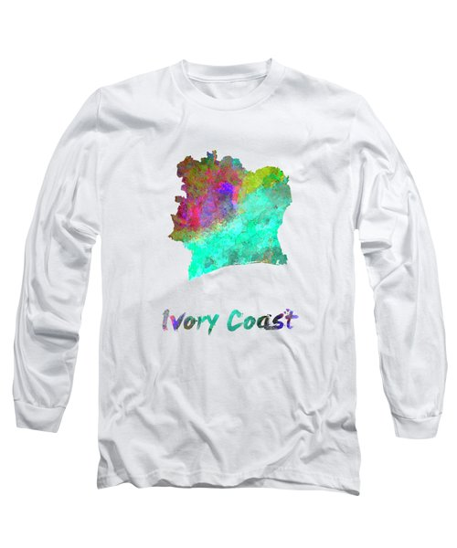 Ivory Coast In Watercolor Long Sleeve T-Shirt