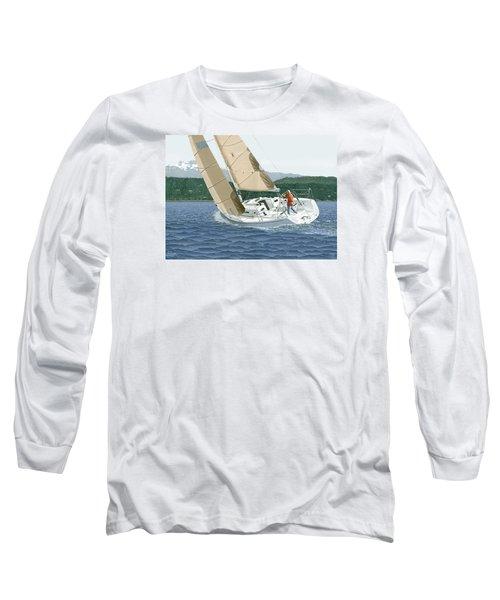 J-109 Sailboat Sail Boat Sailing 109 Long Sleeve T-Shirt