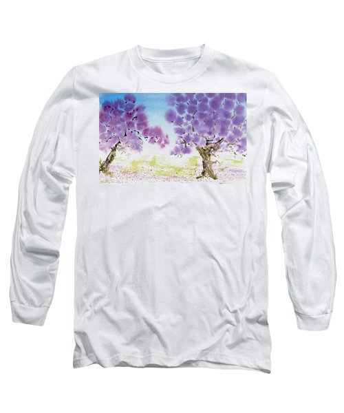 Jacaranda Trees Blooming In Buenos Aires, Argentina Long Sleeve T-Shirt