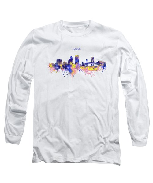 Jacksonville Skyline Silhouette Long Sleeve T-Shirt