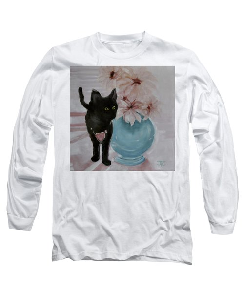 Jacobs's Cat Long Sleeve T-Shirt by Julie Todd-Cundiff