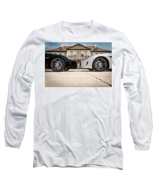 Jaguar F-type - Black And White Long Sleeve T-Shirt