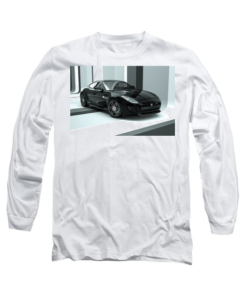Jaguar F-type - Black Retro Long Sleeve T-Shirt