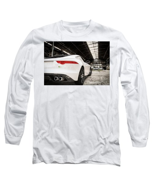 Jaguar F-type - White - Rear Close-up Long Sleeve T-Shirt