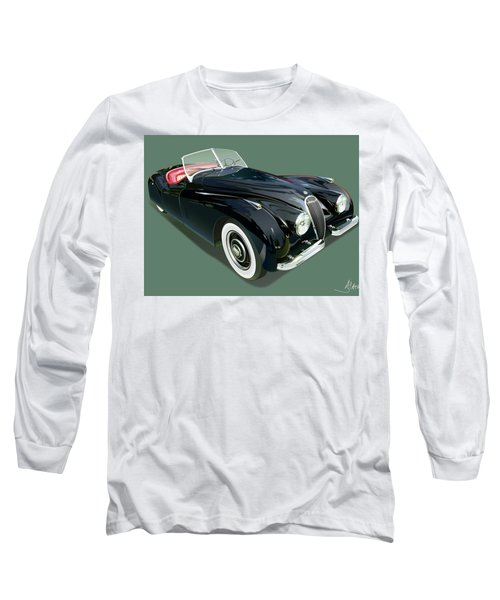 Jaguar Xk 120 Illustration Long Sleeve T-Shirt