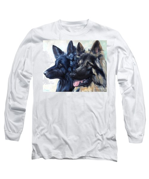 Jake And Shiloh Long Sleeve T-Shirt by Diane Daigle