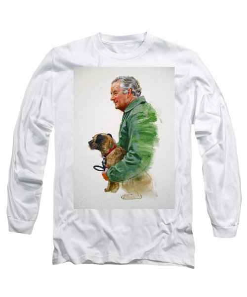 James Herriot And Bodie Long Sleeve T-Shirt by Cliff Spohn