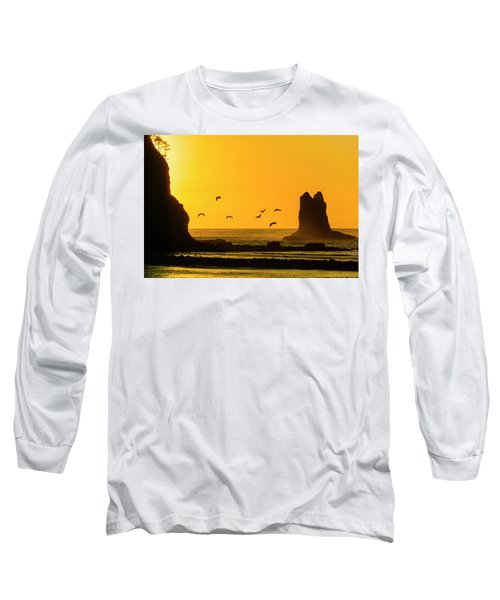 James Island And Pelicans Long Sleeve T-Shirt