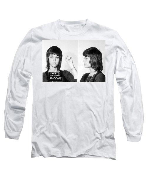 Jane Fonda Mug Shot Horizontal Long Sleeve T-Shirt