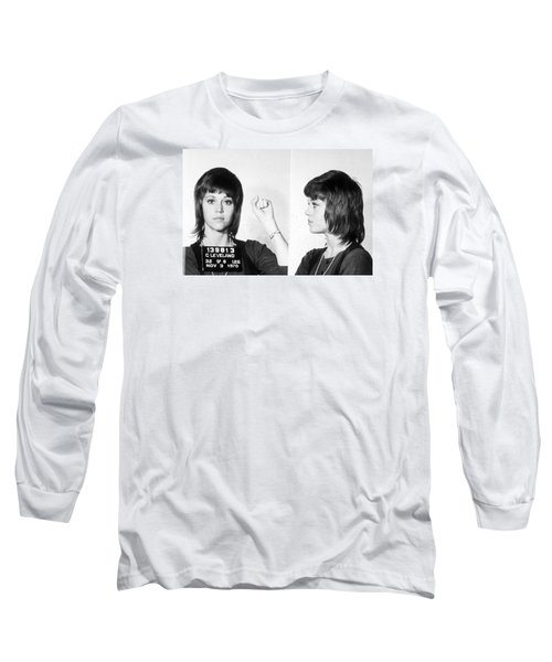 Jane Fonda Mug Shot Horizontal Long Sleeve T-Shirt