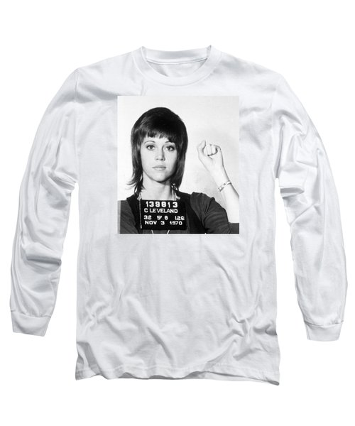 Jane Fonda Mug Shot Vertical Long Sleeve T-Shirt