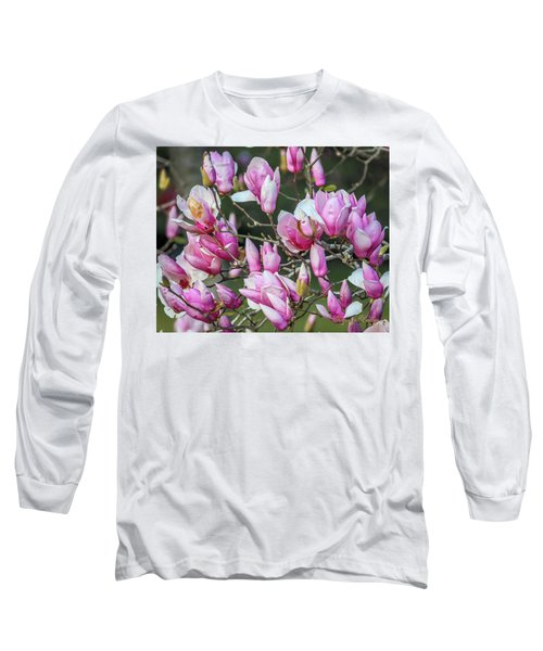 Japanese Blooms Long Sleeve T-Shirt by Gregory Daley  PPSA