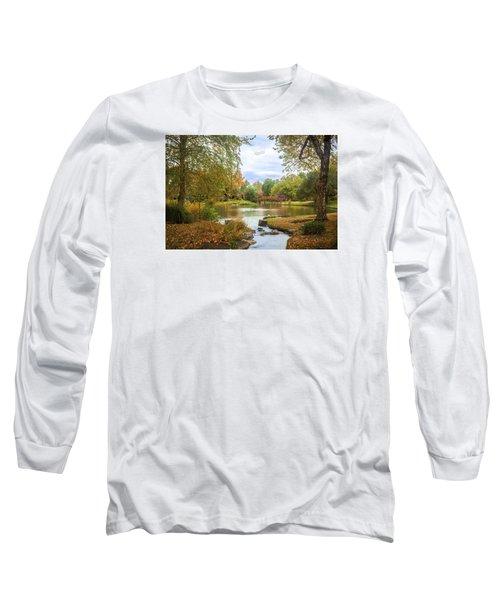 Long Sleeve T-Shirt featuring the photograph Japanese Garden View by David Coblitz