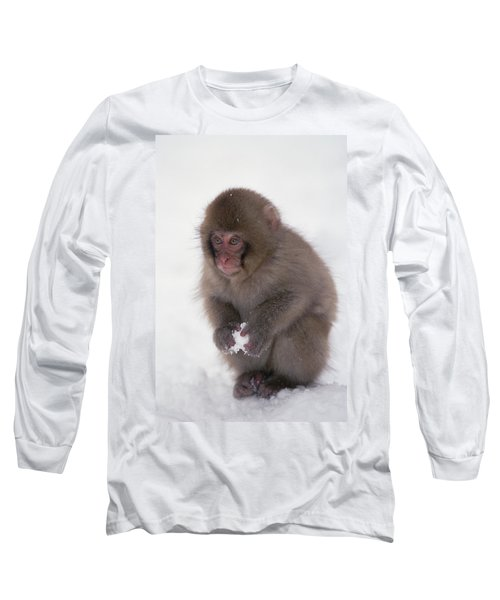 Japanese Macaque Macaca Fuscata Baby Long Sleeve T-Shirt