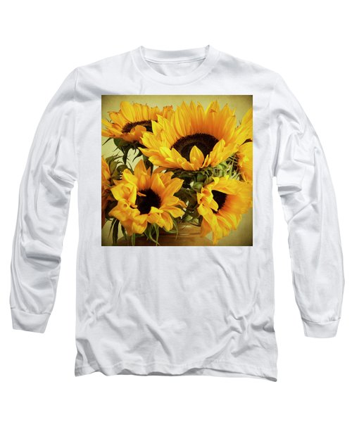 Jar Of Sunflowers Long Sleeve T-Shirt