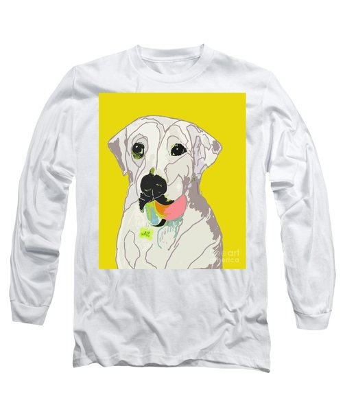 Jax With Ball In Yellow Long Sleeve T-Shirt