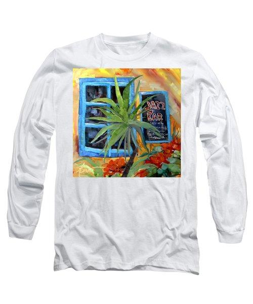 Jazz Bar In Santorini Long Sleeve T-Shirt