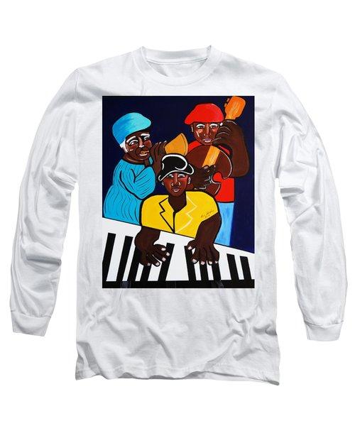 Jazz Sunshine Band Long Sleeve T-Shirt by Nora Shepley