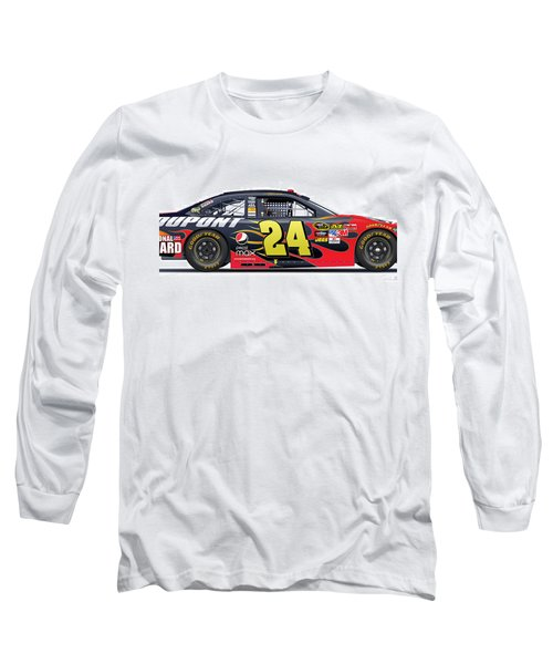 Jeff Gordon Nascar Image Long Sleeve T-Shirt