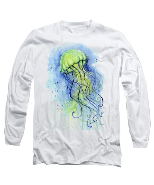 Jellyfish Watercolor Long Sleeve T-Shirt