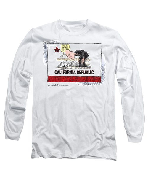 Jerry Brown - California Drought And High Speed Rail Long Sleeve T-Shirt