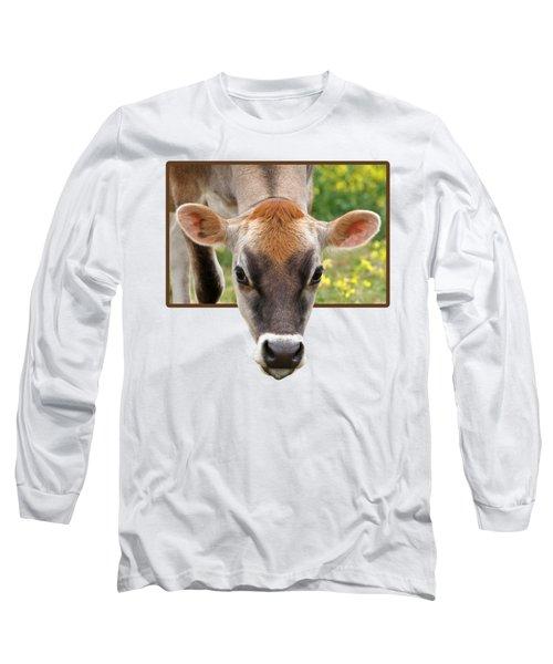 Jersey Fields Of Gold Long Sleeve T-Shirt by Gill Billington