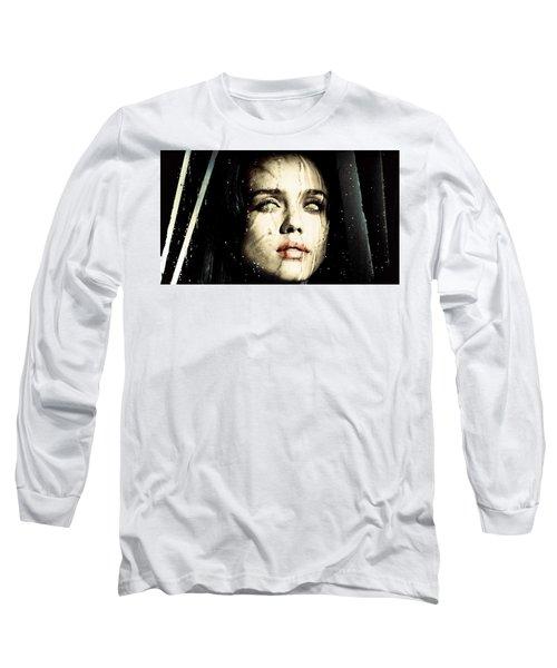 Jessica Alba Dark Horror Long Sleeve T-Shirt