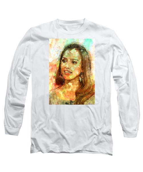 Jessica Alba Long Sleeve T-Shirt