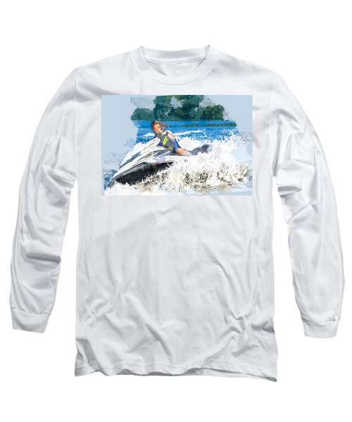 Jet Skiing In The Lake Long Sleeve T-Shirt