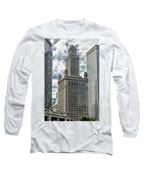 Jewelers Building Chicago Long Sleeve T-Shirt by Alan Toepfer