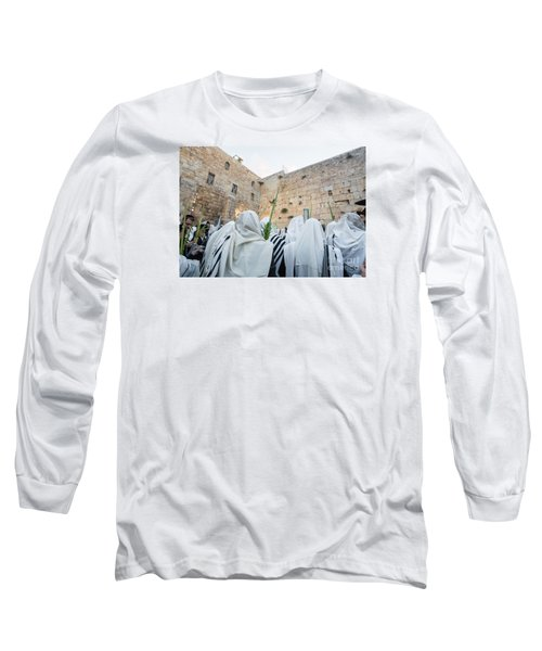 Jewish Sunrise Prayers At The Western Wall, Israel 10 Long Sleeve T-Shirt
