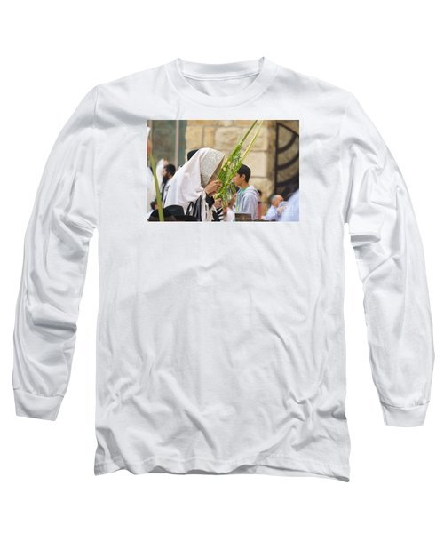 Jewish Sunrise Prayers At The Western Wall, Israel 6 Long Sleeve T-Shirt