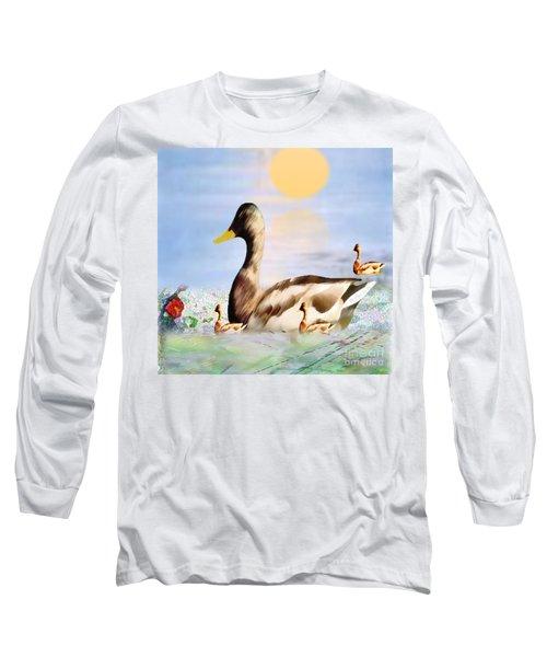 Jhot Summer Day Long Sleeve T-Shirt by Belinda Threeths