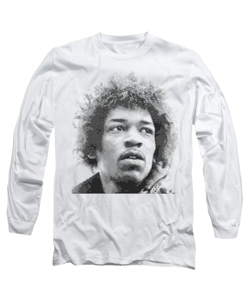Jimi Hendrix - Cross Hatching Long Sleeve T-Shirt