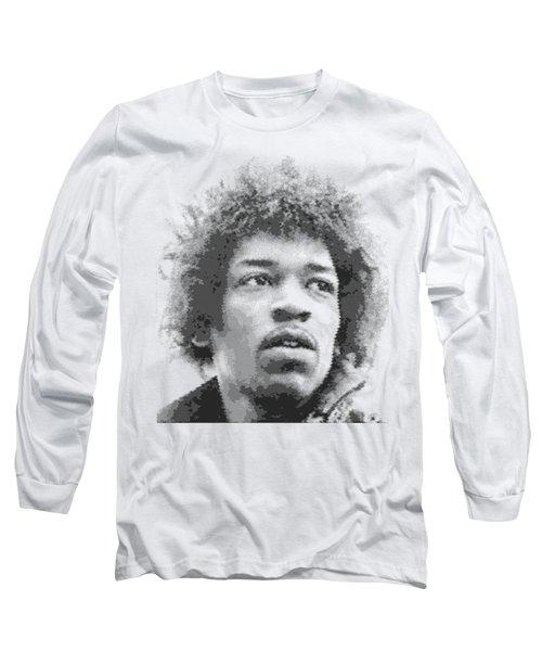 Jimi Hendrix - Cross Hatching Long Sleeve T-Shirt